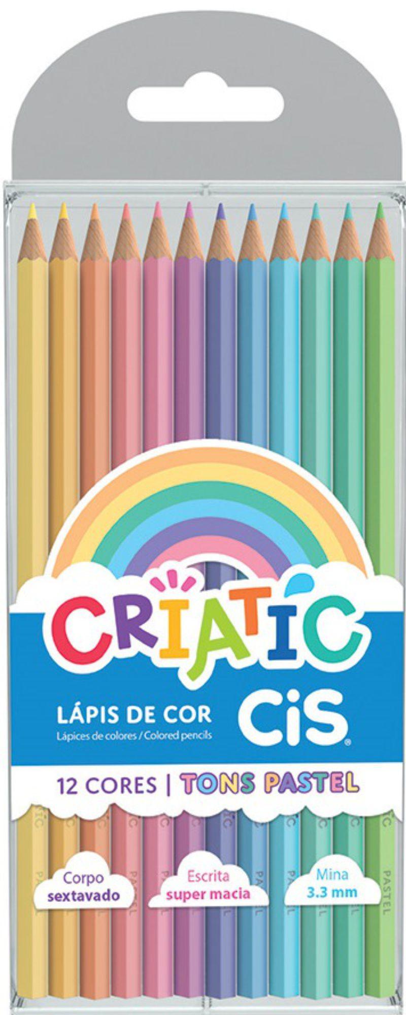 Lápis De Cor Pastel Criatic Cis 12 Cores