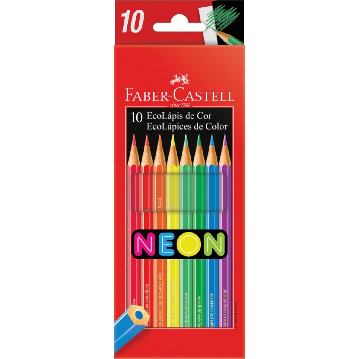 Lápis de Cor Faber Castell 10 Cores Neon