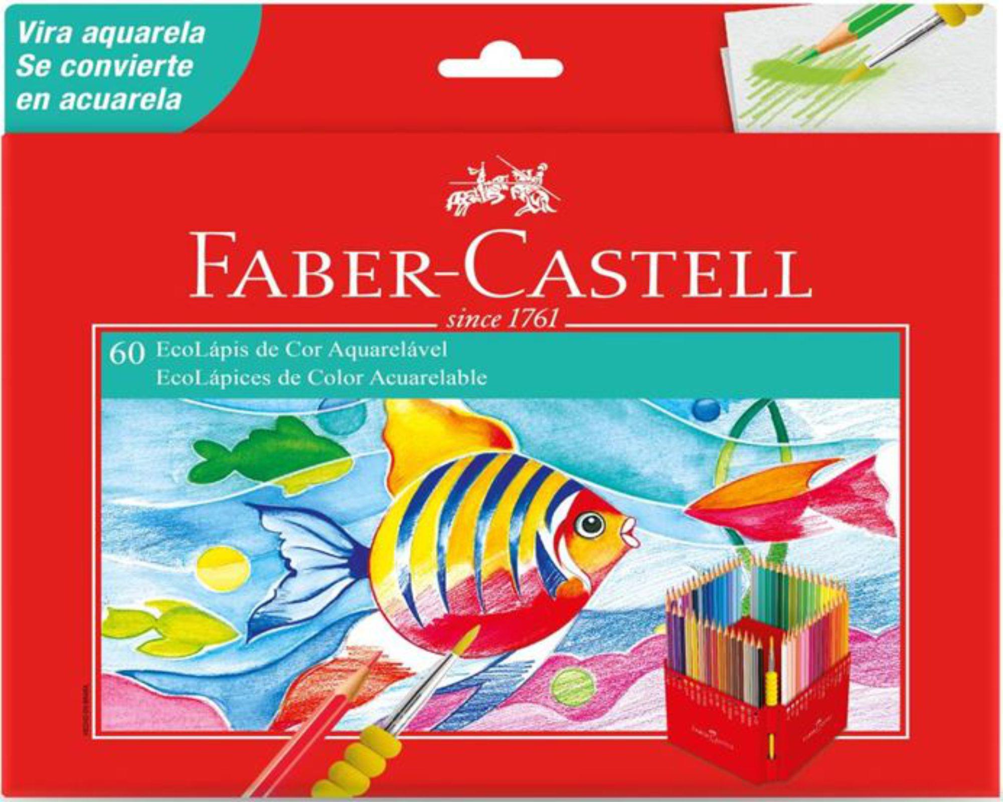Lápis De Cor Faber Castell Aquarelável 60 Cores