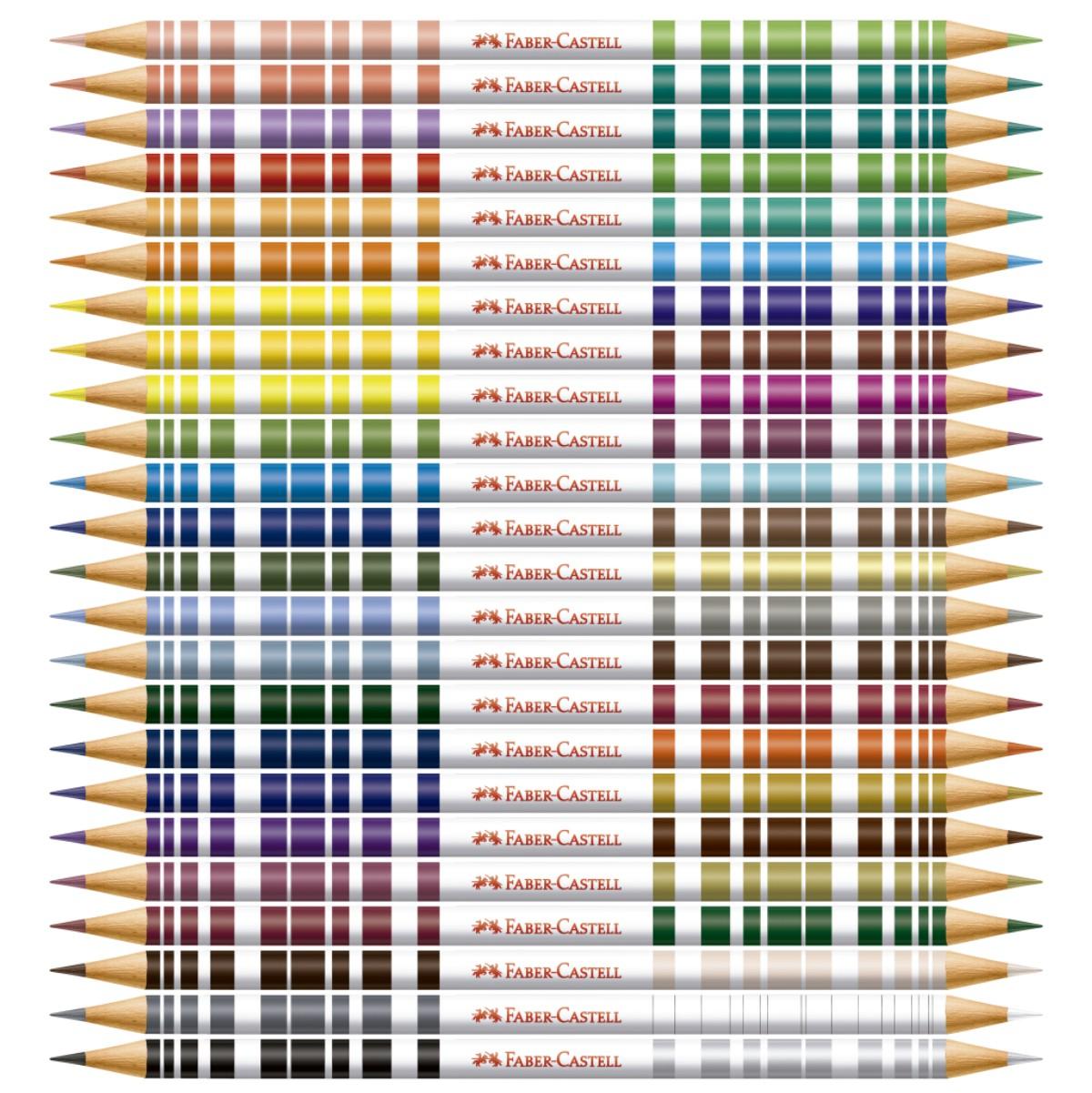 Lápis de Cor Faber Castell Bicolor 24 lápis e 48 Cores