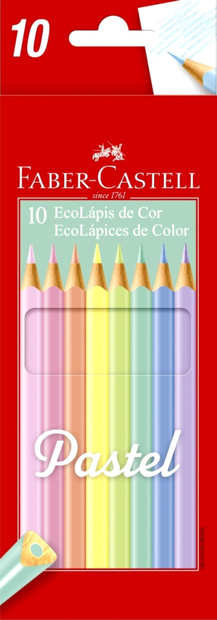 Lápis De Cor Faber Castell Pastel 10 Cores