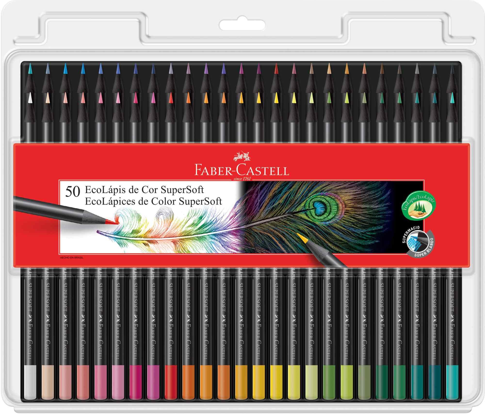 Lápis De Cor Faber Castell Super Soft 50 Cores