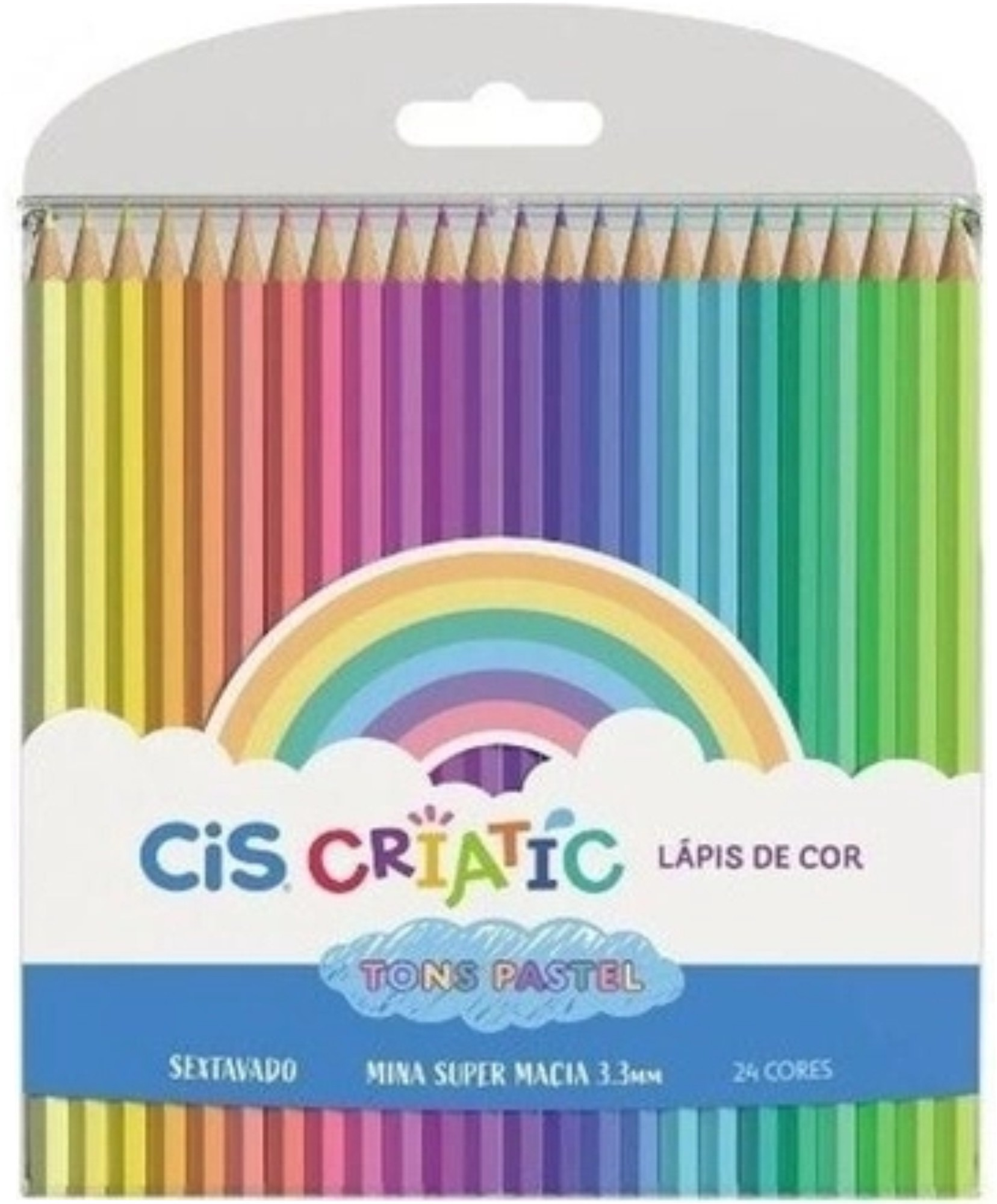 Lápis De Cor Pastel Criatic Cis 24 Cores