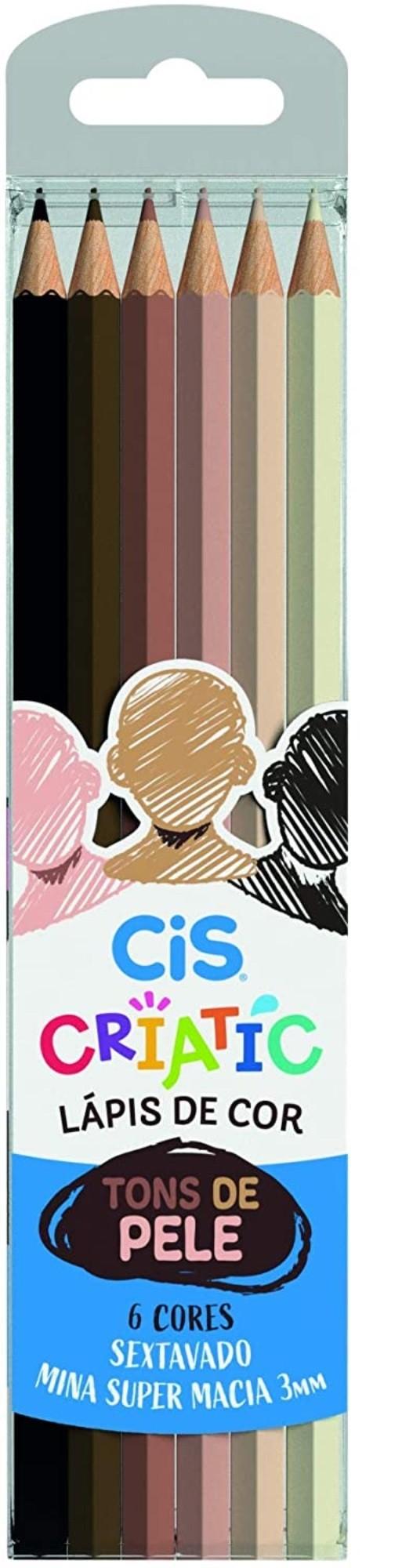 Lápis De Cor Tons De Pele Criatic Cis 6 Cores