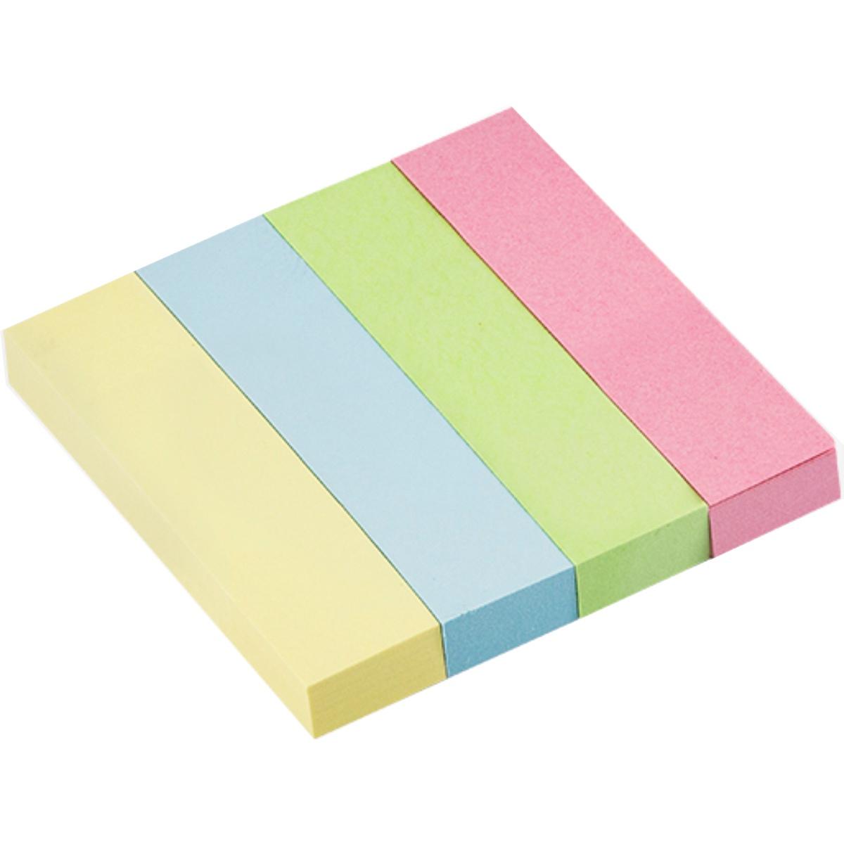 Marca Página Brw 19x76 Soul Pastel 4 Blocos Com 100 Folhas Cada