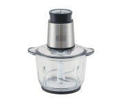 Miniprocessador MP300G com Tigela de Vidro - Gourmand Gris - Black+Decker