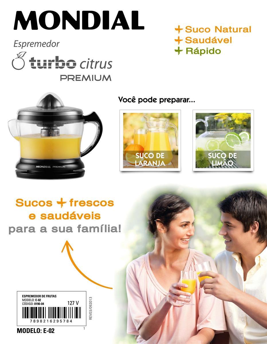 Espremedor de Frutas Premium (E-02) - Mondial