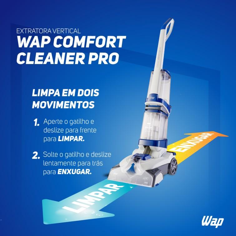 Extratora e Higienizadora Vertical Comfort Cleaner Pro - Wap