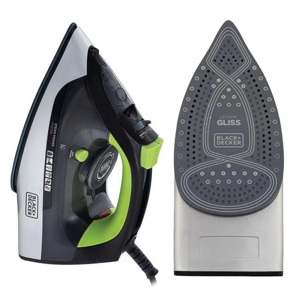 Ferro de Passar Roupa a Vapor Steam Power Ceramic Gliss com Antigotejamento - FX2700 - Black+Decker