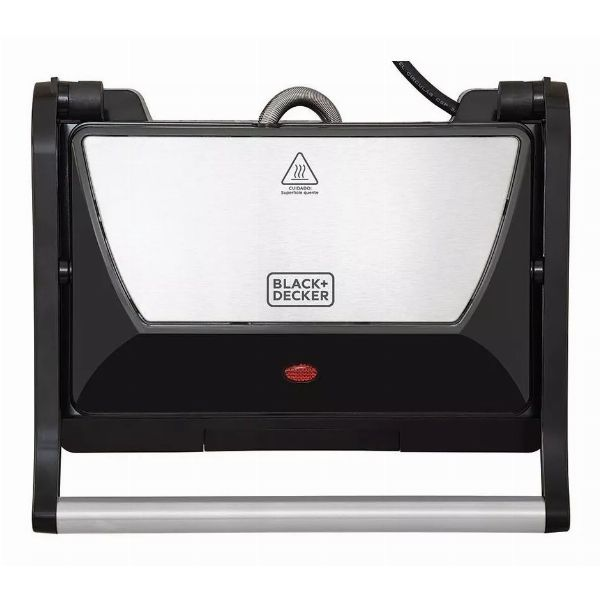 Grill Prensa G800 com Antiaderente Cerâmico - Black+Decker