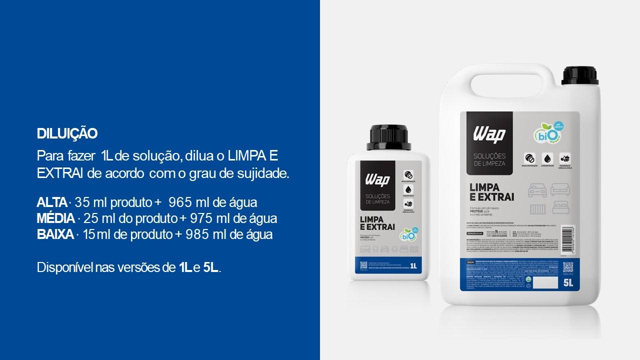 Limpa e Extrai 1L - Solução de Limpeza Wap