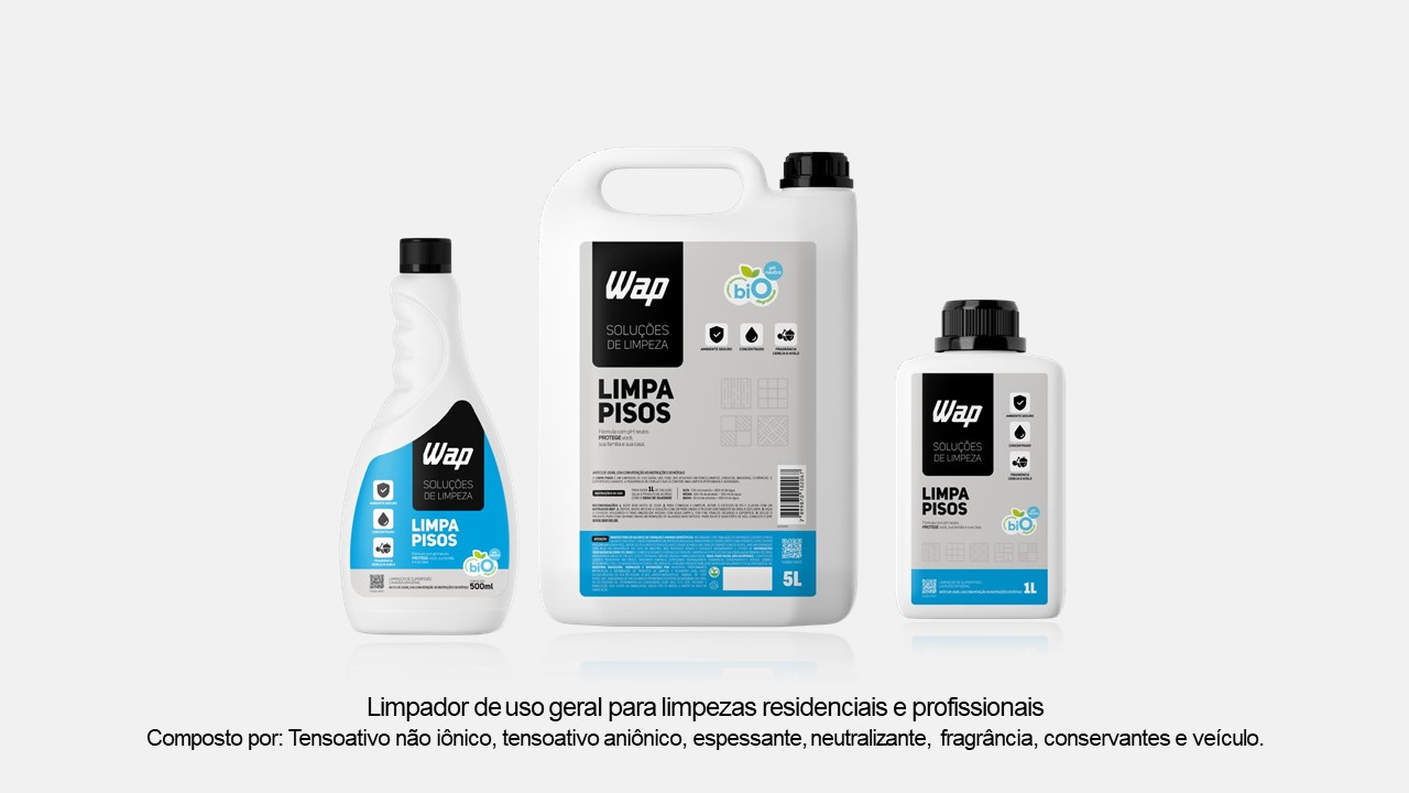 Limpa Pisos 500mL (refil) - Solução de Limpeza Wap