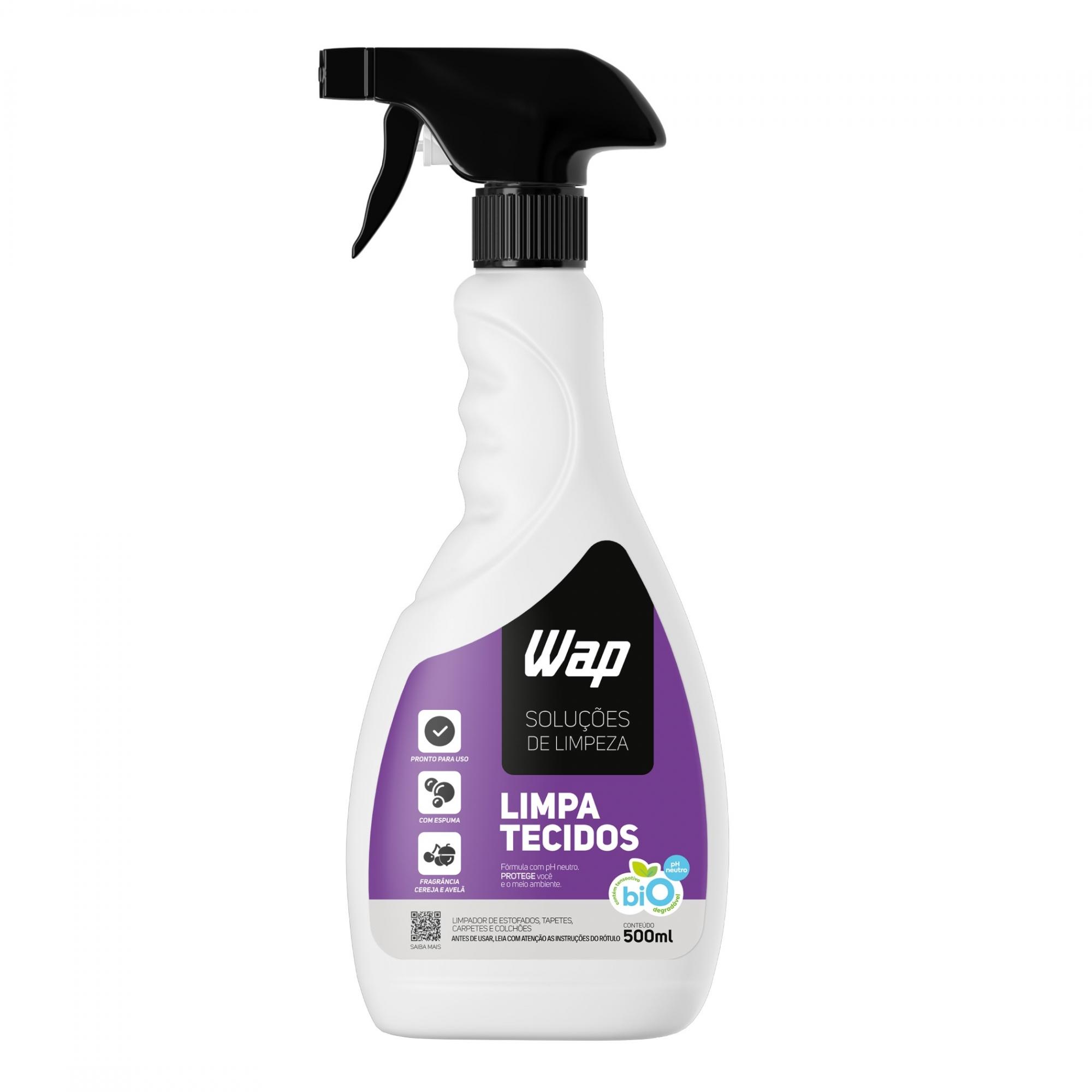 Limpa Tecidos 500mL com Gatilho - Solução de Limpeza Wap