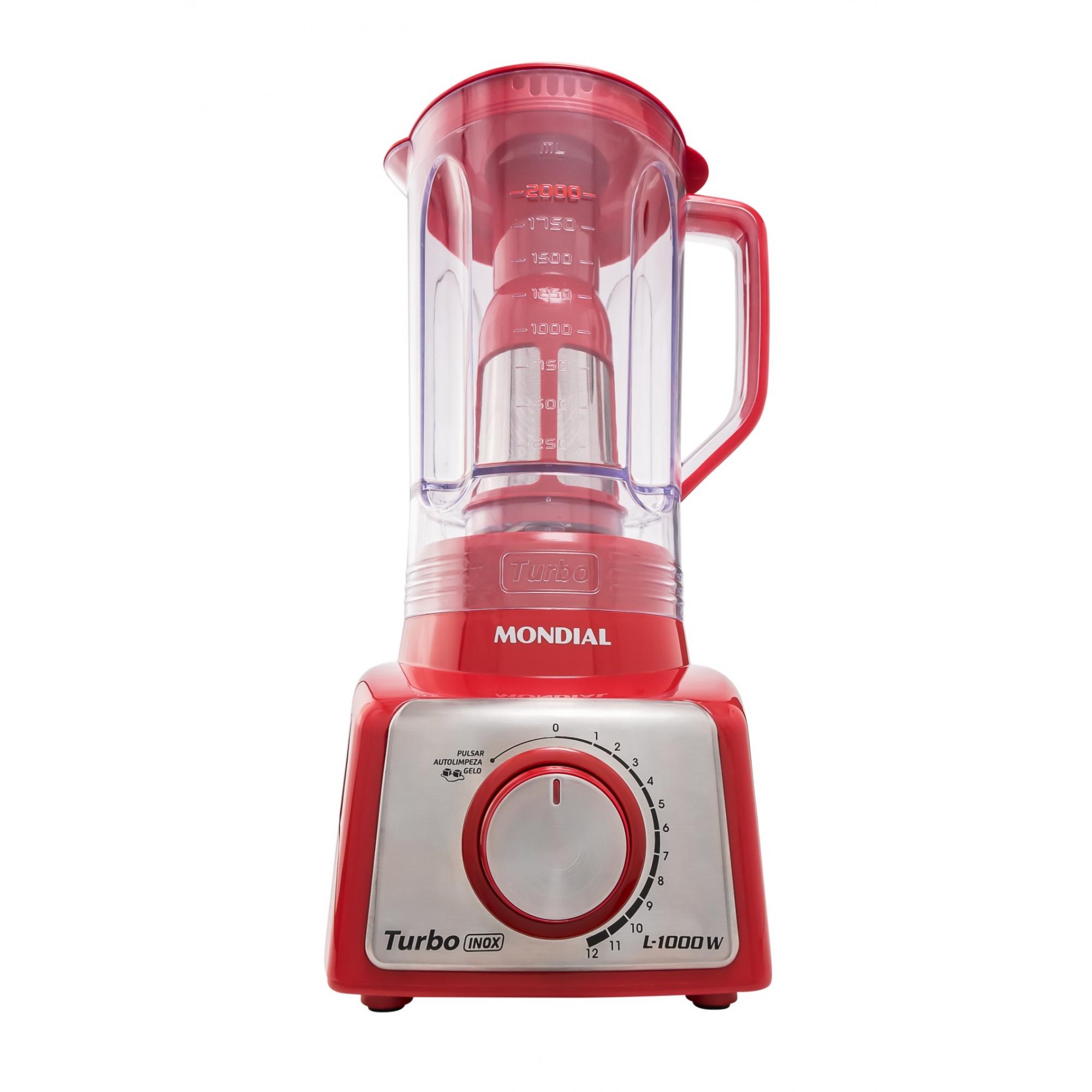 Liquidificador Turbo Inox Red (L-1000 RI) - Mondial