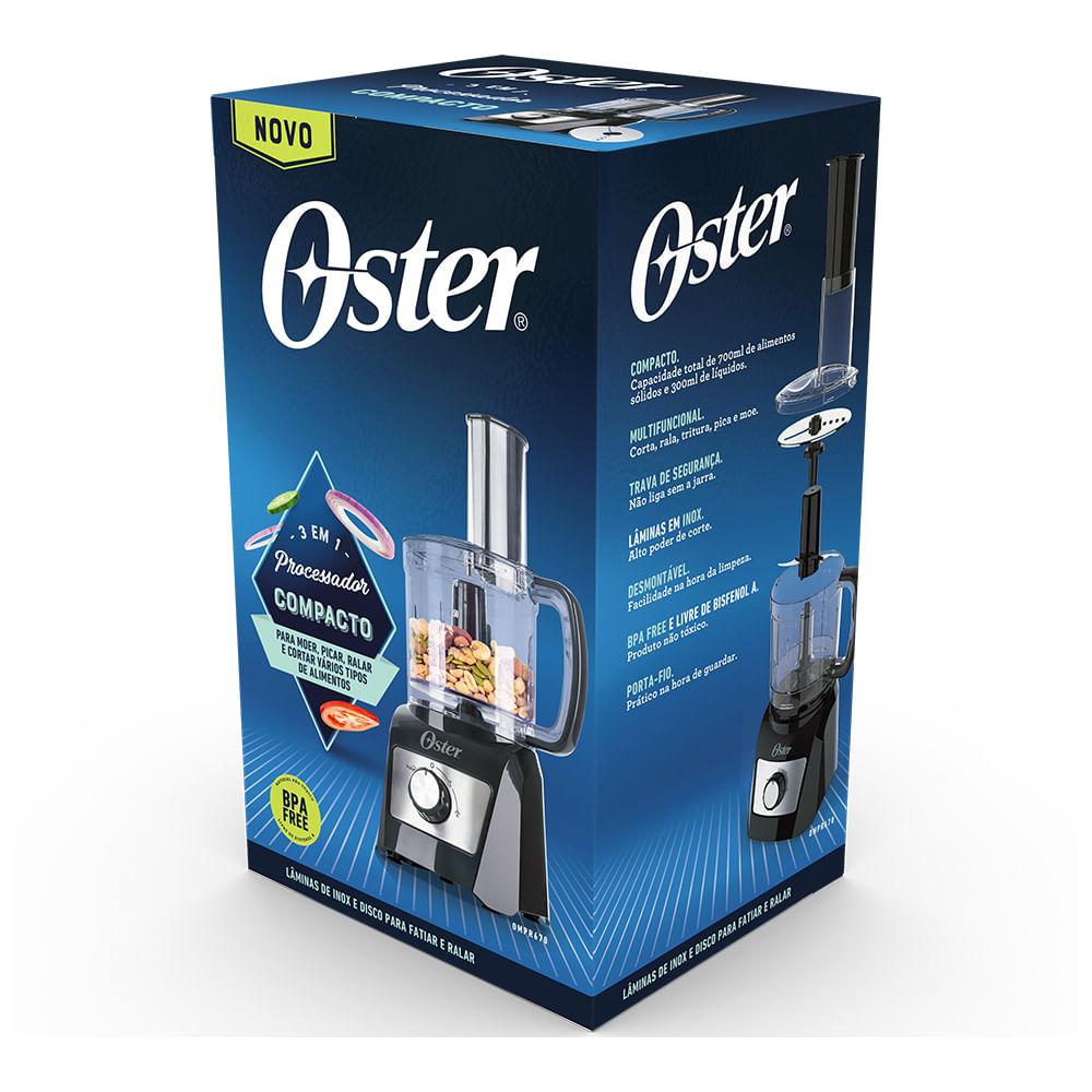 Processador de Alimentos Compacto 3 em 1 - OMPR670 - Oster