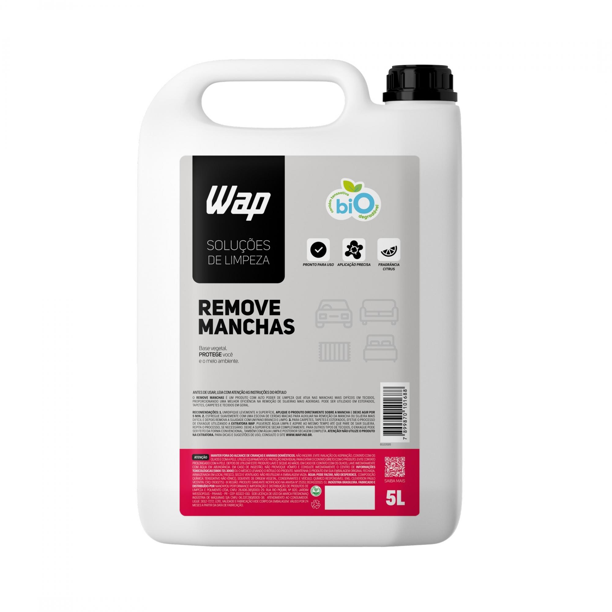 Remove Manchas 5L - Solução de Limpeza Wap