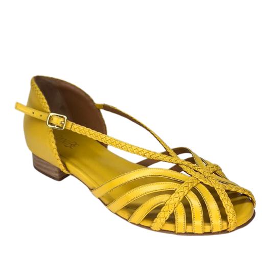 Rasteira Isabela Pelica Amarela  2,5 cm