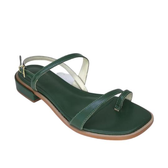 Rasteira Summer Pelica Verde 2,5 cm