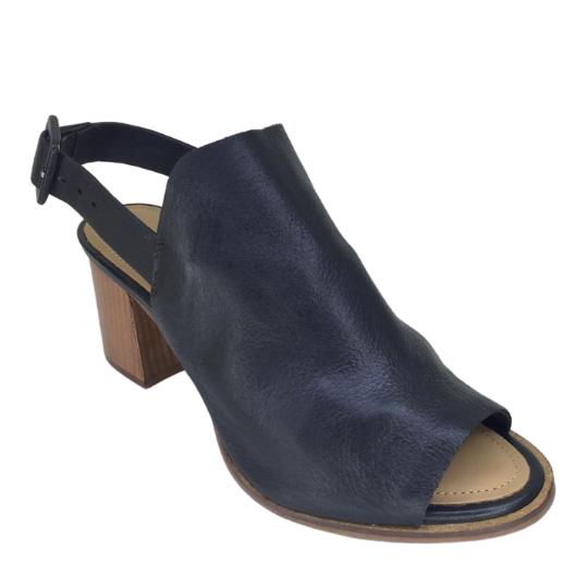 Sandália Ankle Boot Couro Preto 5 cm