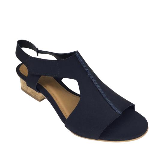 Sandália Gloria Neoprene Preta 3,5 cm