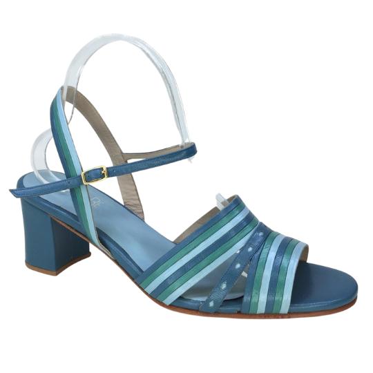 Sandália Heloisa Pelica Azul 6 cm