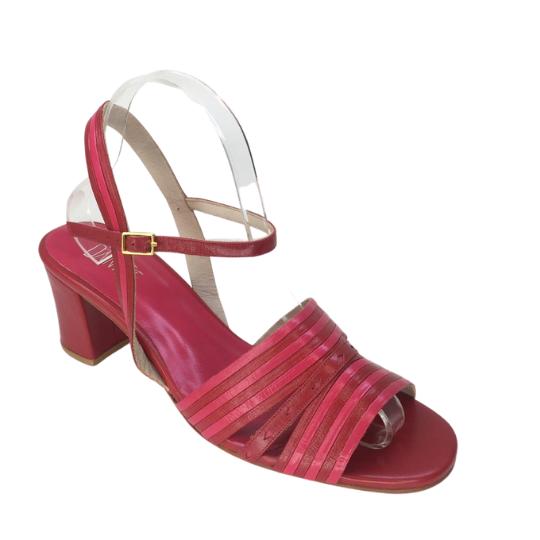 Sandália Heloisa Pelica Vermelha 6 cm