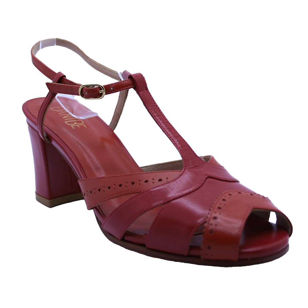 Sandália Kat Pelica Vermelha 6 cm
