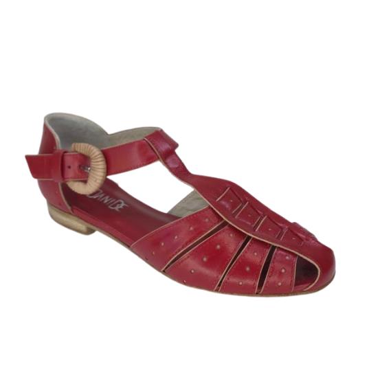 Sandália Lissa Pelica Vermelha 2,5 cm