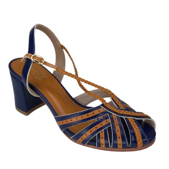 Sandália Luana Pelica Azul 6 cm