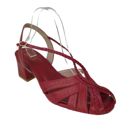 Sandália Luana Pelica Vermelha 4 cm