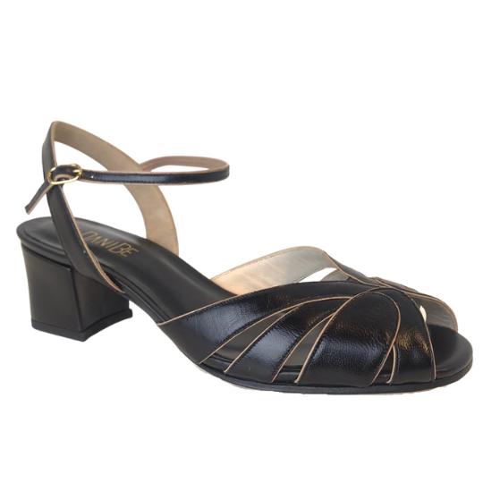 Sandália Pietra Pelica Preta 4 cm