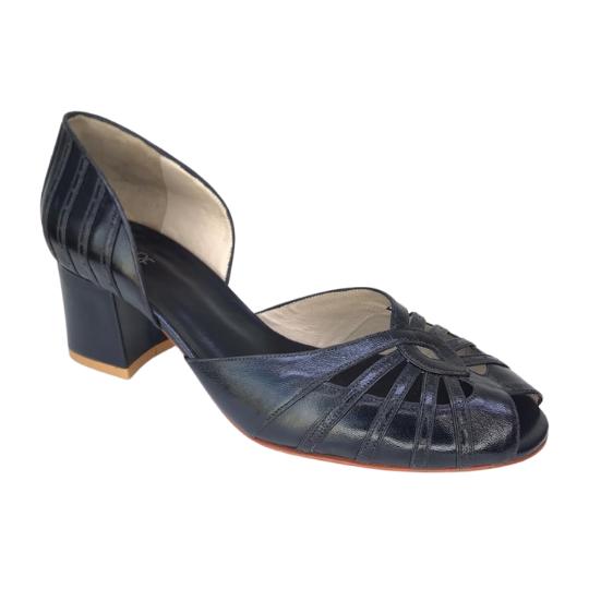 Sapato Analu Pelica Preta 5 cm