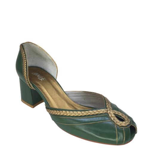 Sapato Camila Pelica Verde 5 cm