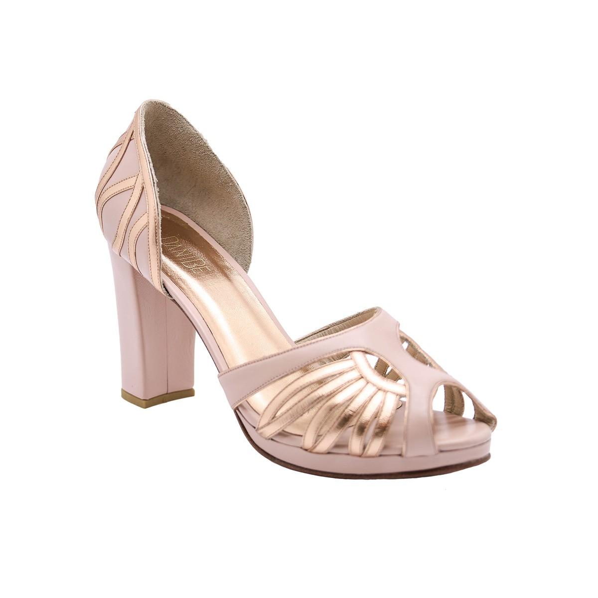 Sapato Carla Pelica Rosa 8 cm