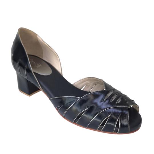 Sapato Delta Pelica Preta 5 cm