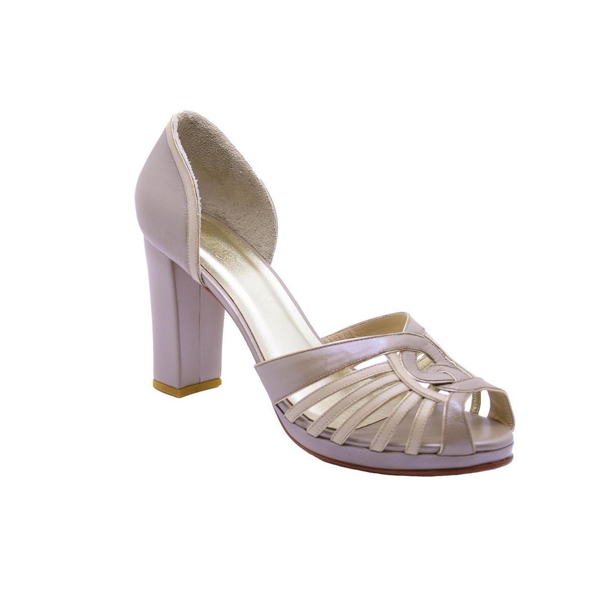 Sapato Demi Pelica Fendi 8 cm