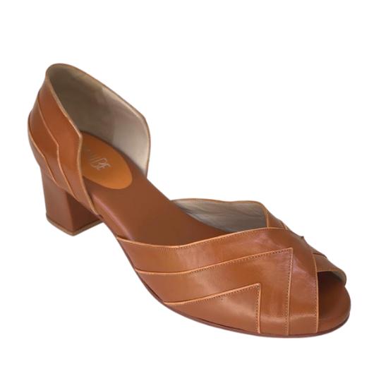 Sapato Fernanda Pelica Caramelo 4,5 cm