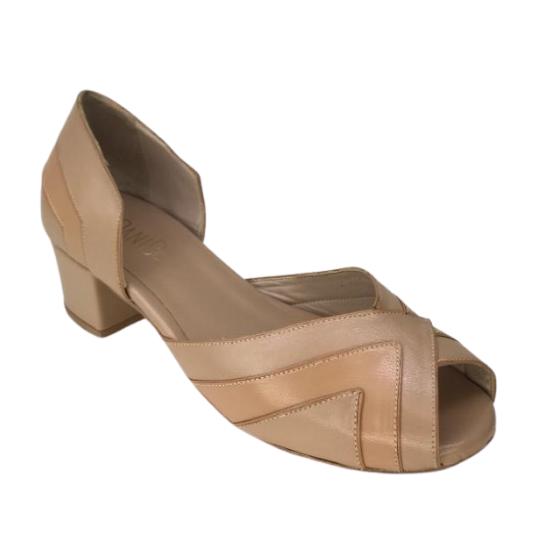 Sapato Fernanda Pelica Pele 3,5 cm