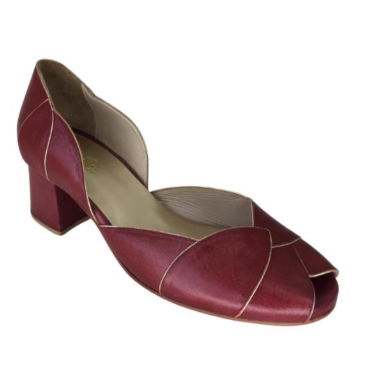Sapato Folha Calf Vinho 5 cm