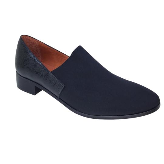 Sapato Loafer Neoprene Preto 3,5 cm