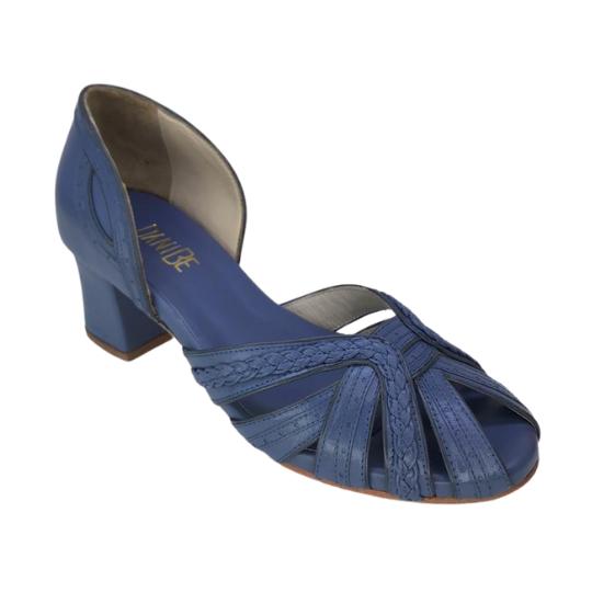 Sapato Luiza Pelica Azul Jeans 4 cm