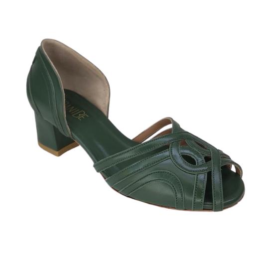 Sapato Malu Pelica Verde 4 cm