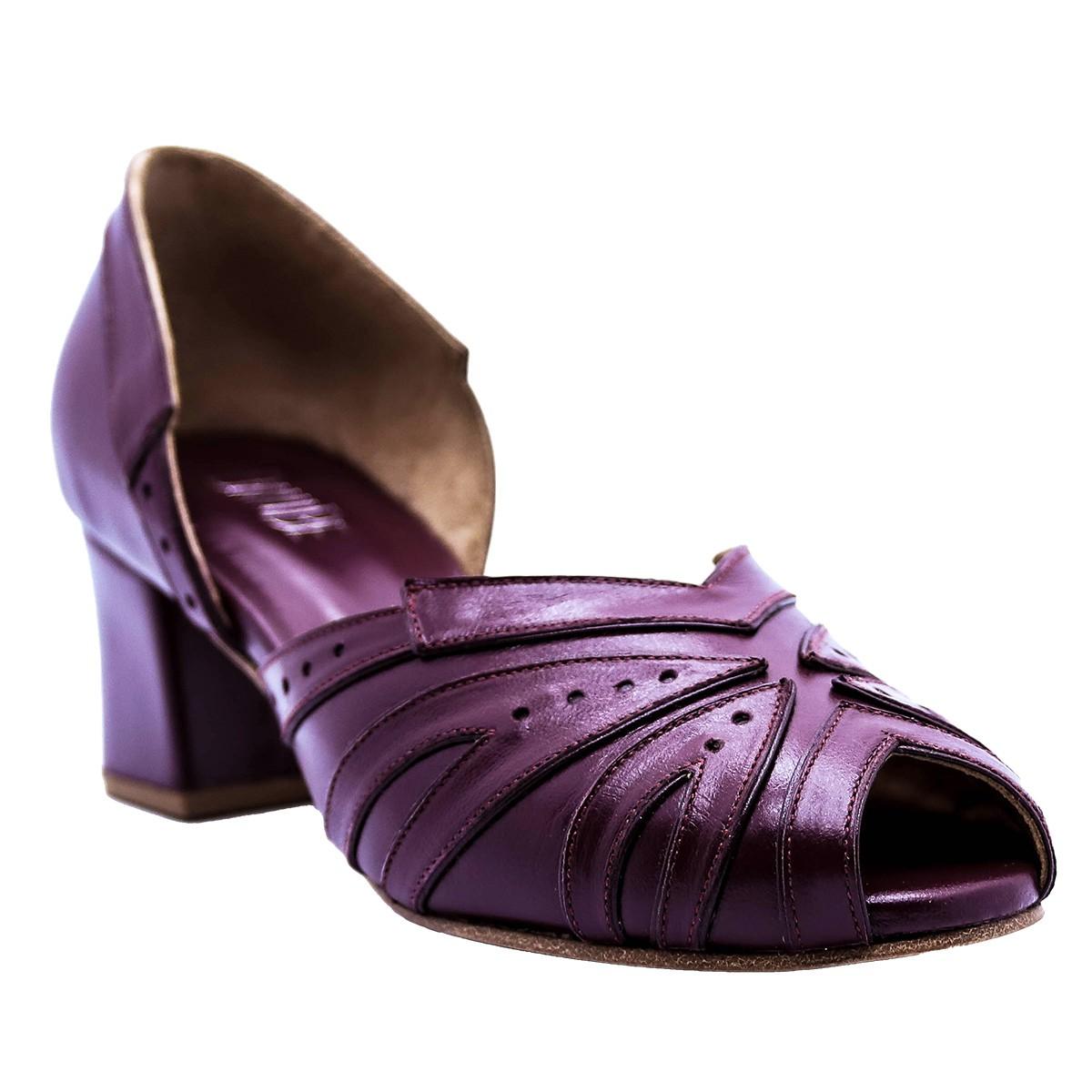 Sapato Manolo Pelica Vinho 4,5 cm