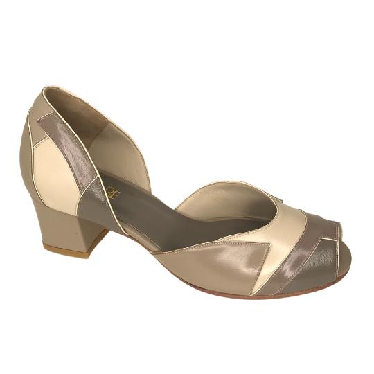 Sapato Mosaico Pelica Fendi 4 cm