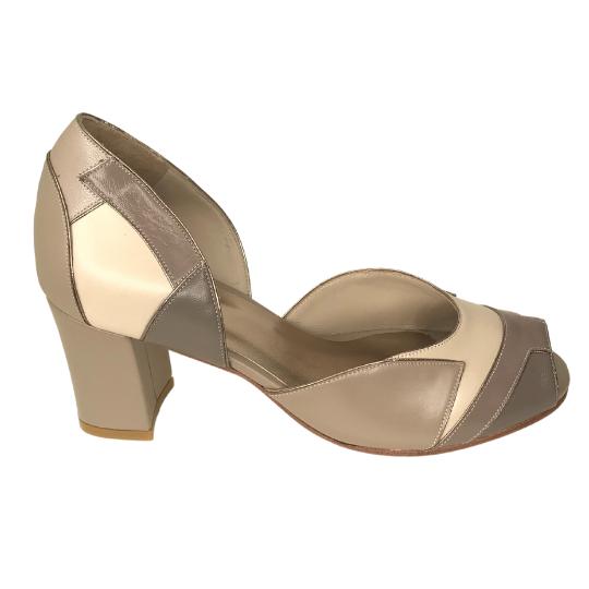 Sapato Mosaico Pelica Fendi 6 cm