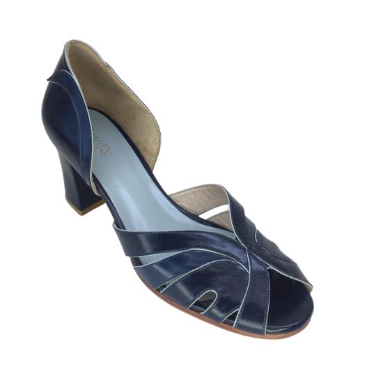 Sapato Pamela Azul Marinho 6 cm