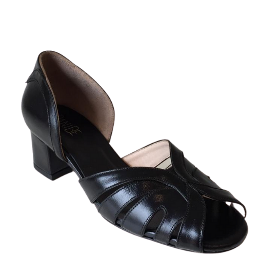Sapato Pamela Preto 4 cm