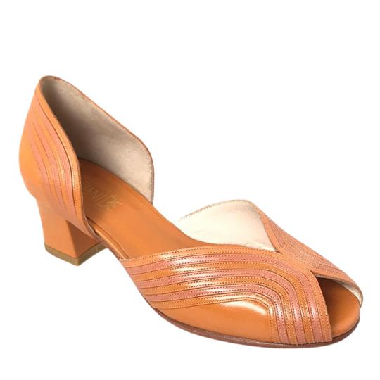 Sapato Paola Pelica Laranja 4 cm