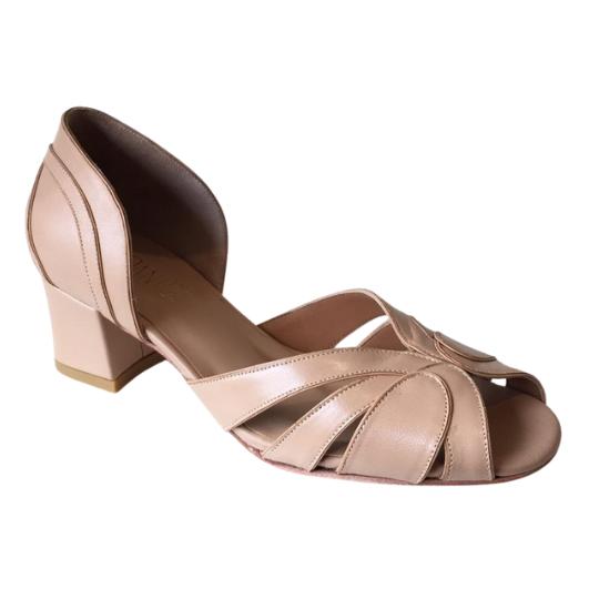 Sapato Pietra Bege 4 cm
