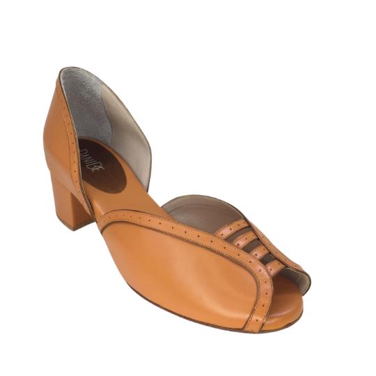 Sapato Regina Pelica Laranja 4,5 cm
